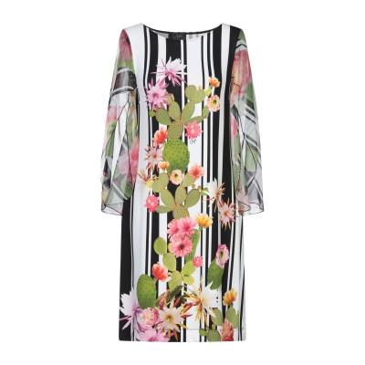 CLIPS ミニワンピース&ドレス ブラック XS レーヨン 90% / ポリウレタン 10% / シルク / ポリエステル ミニワンピース&ドレス