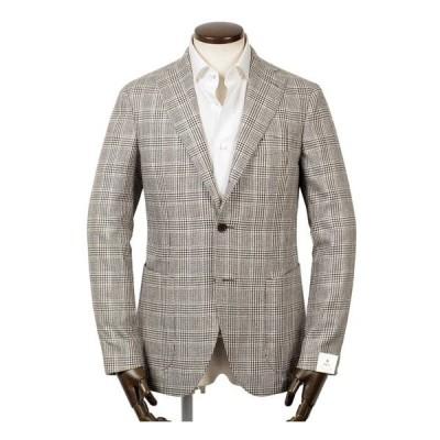 【SALE】ルイジボレッリ ルイジボレリ LUIGI BORRELLI / シルクサマーツイードグレンチェック3Bジャケット「PROCIDA」