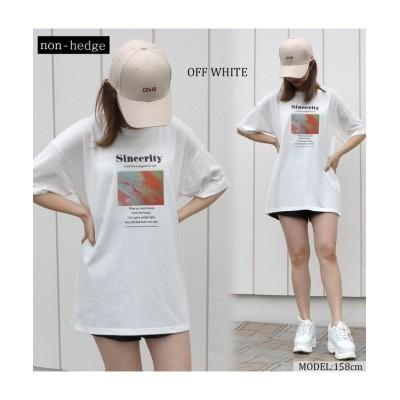 【ティムティム】 マーブルプリントTシャツ レディース オフホワイト M TiM・TiM
