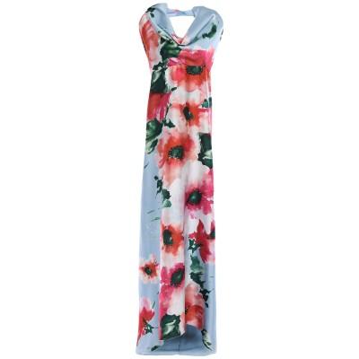 ADE' ロングワンピース&ドレス スカイブルー 42 ポリエステル 100% ロングワンピース&ドレス