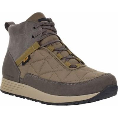 テバ メンズ ブーツ・レインブーツ シューズ Ember Commute Waterproof Boot Grey/Olive Leather/Recycled Polyester