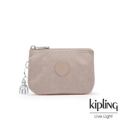 Kipling 玫瑰拿鐵色三夾層配件包-CREATIVITY S