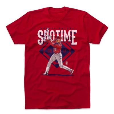 大谷翔平 Tシャツ MLB エンゼルス ショータイム SHOWTIME 半袖 ロサンゼルス 500Level レッド【OCSL】