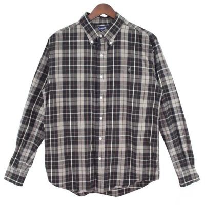 Gymphlex フランネル チェックシャツ グレー サイズ:L (吉祥寺店) 210302