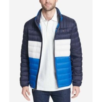 トミー ヒルフィガー メンズ ジャケット・ブルゾン アウター Men's Down Quilted Packable Puffer Jacket Royal Blue Combo