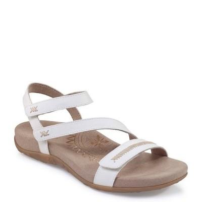 エイトレックス レディース サンダル シューズ Gabby Banded Stitch Detail Sandals White