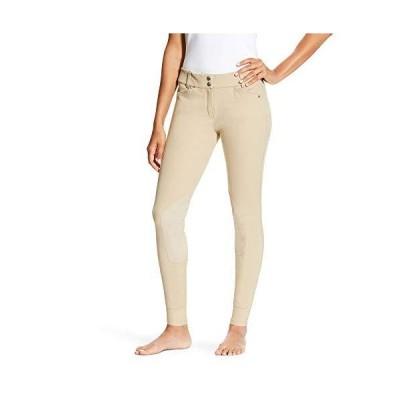 AriatレディースHeritage Low Rise膝パッチfront-zipパンツ US サイズ: 28 カラー: ベージュ