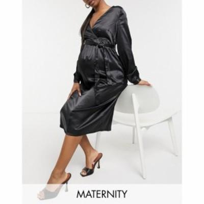 ママリシャス Mama.licious レディース ワンピース マタニティウェア ラップドレス ミドル丈 Mamalicious Maternity Wrap Midi Dress In