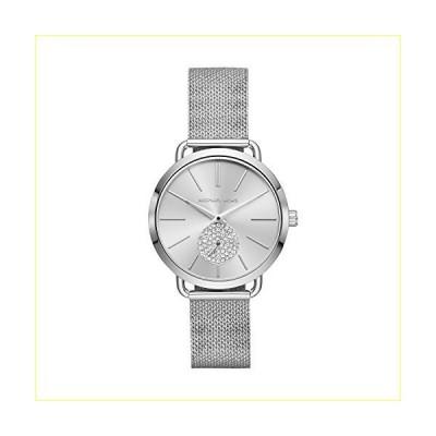 Michael Kors Women's Portia Analog-Quartz Watch with Stainless-Steel Strap, Silver, 16 (Model: MK3843)【並行輸入品】