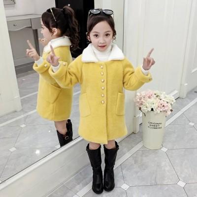 子供コート ダッフルコート 女の 子  可愛い 防寒 コート アウター 韓国風 秋冬  チェック 子供服  ダッフルコート