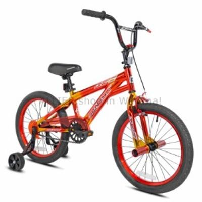 """BMX ジェネシスヘビーデューティ18 """"6  -  9ゴールドオレンジレッド用ボーイズワンエイトBMXバイク6  Genesis"""