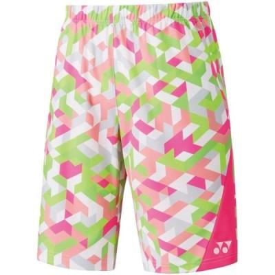 ヨネックス テニス メンズ ニットハーフパンツ フィットスタイル テニス・バドミントンウエア 19 ネオンピンク ケームシャツ・パンツ(15090-705)