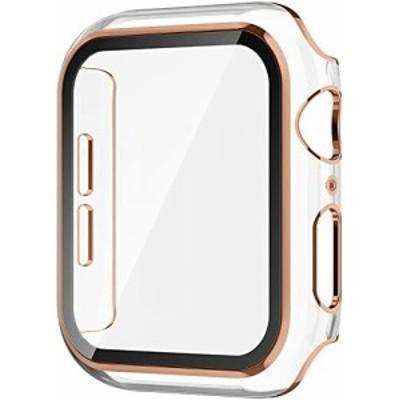 Apple Watch ケース 38mm/40mm/42mm/44mm iWatch カバー超薄型 液晶全面保護カバー アップルウォッチ カバー耐衝撃 Apple Watch フィルム