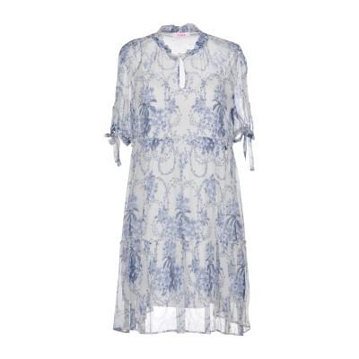 ブルーガール ブルマリン BLUGIRL BLUMARINE ミニワンピース&ドレス ホワイト 40 レーヨン 100% ミニワンピース&ドレス