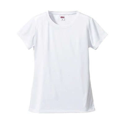 Tシャツ 半袖 ガールズ レディース ドライ シルキ−タッチ ノンブリード 4.7oz L サイズ ホワイト 無地 ユナイテッドアスレ CAB