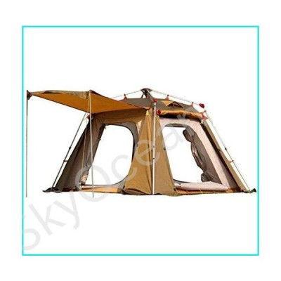 F.TG Camping Tent, Portable Folding Waterproof Outdoor Tent for Hiking Climbing Durable Camping Tent for 3-4 Persons Unisex Big Space Family