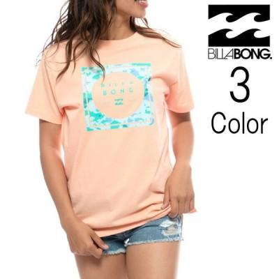 ビラボン Billabong レディース SQUARE LOGO スクエアロゴ Tシャツ bb013231