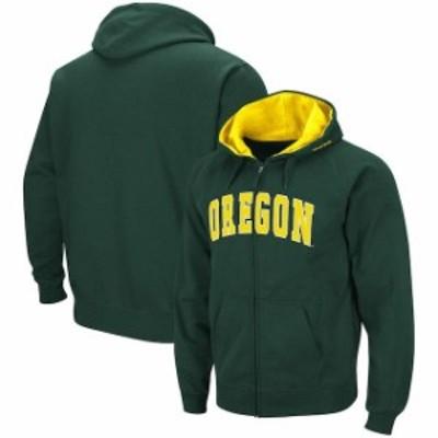 Colosseum コロセウム スポーツ用品  Colosseum Oregon Ducks Green Arch & Logo Tackle Twill Full-Zip Hoodie