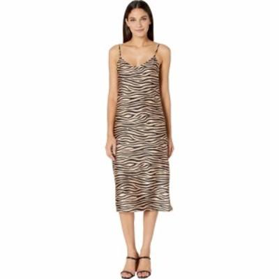 スティーブ マデン BB Dakota x Steve Madden レディース ワンピース スリップドレス Slip Service Zebra Print Satin Slip Dress Light