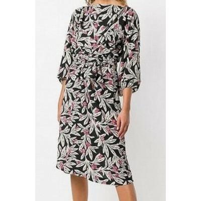 ファッション ドレス Isabel Etoile Marant NEW Black Women Size 34 Floral Print Sheath Dress