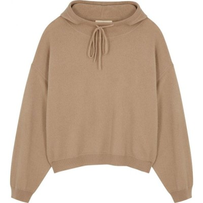 LOULOU スタジオ Loulou Studio レディース スウェット・トレーナー トップス linosa stone cashmere sweatshirt Natural