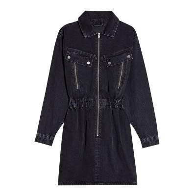 トップショップ TOPSHOP ミニワンピース&ドレス ブラック 10 コットン 100% ミニワンピース&ドレス