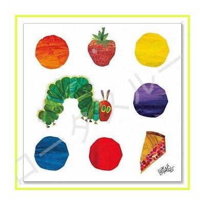 Oopsy Daisy Eric Carle 's The Very Hungry Caterpillarとドットストレッチキャンバス壁アート、14?by 14インチ 並行輸