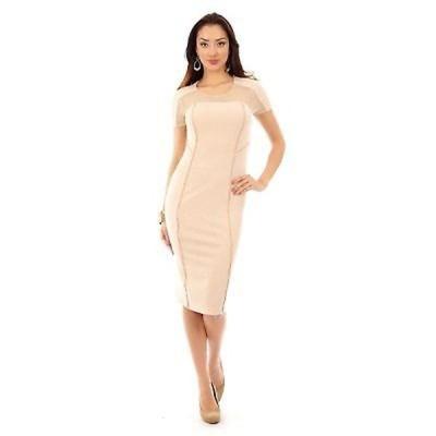 ドレス アンブランディッド Illusion Short Sleeve Midi Dress