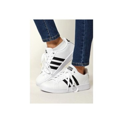 Sneakers Selection CLOUDFOAMVALSTRIPES/バルストライプス(ホワイト/ブラック) ホワイト/ブラック