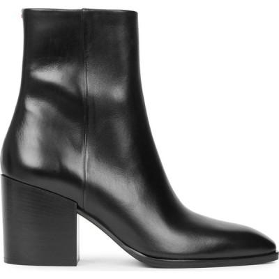 アイデ aeyde レディース ブーツ ショートブーツ シューズ・靴 Leandra 80 black leather ankle boots Black