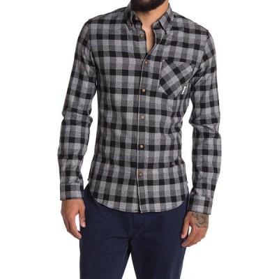 ベンシャーマン メンズ シャツ トップス Check Print Shirt BLACK