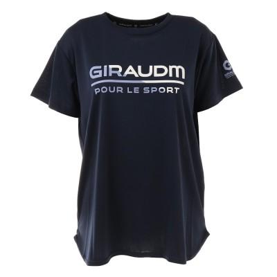 GIRAUDMアウトドアTシャツ 半袖 ドライ 吸汗速乾 UVカット メッシュシャツ 864GM1CD6678 NVYネイビー