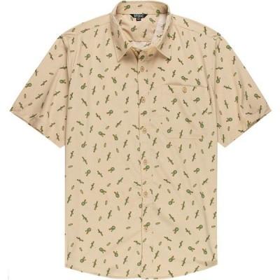 ストイック シャツ メンズ トップス Cactus Print Performance Woven Button-Down Shirt - Men's Cream