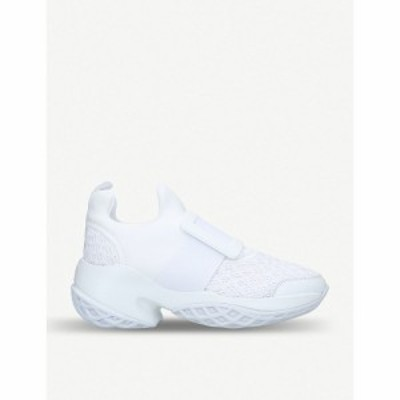ロジェ ヴィヴィエ ROGER VIVIER レディース スリッポン・フラット シューズ・靴 Viv Run scuba and leather trainers WHITE