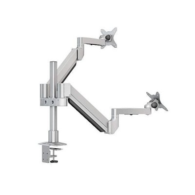 """Dual Monitor Mount Stand-Adjustable Full Motion Gas Spring Monitor Arm for Two Screens up to 30"""",20lbs per arm by Bewiser(D202) 並行輸入"""