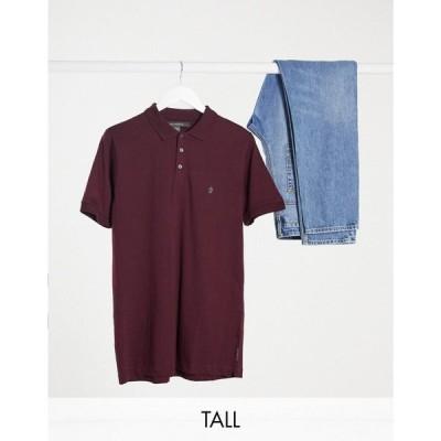 フレンチコネクション French Connection メンズ ポロシャツ トップス Tall polo in burgundy