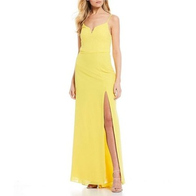 ビーダーリン レディース ワンピース トップス Spaghetti Strap High-Slit Long Dress