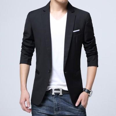 黒ジャケット メンズ 大きいサイズ テーラードジャケット カジュアル 秋 スーツジャケット 50代 通勤 ブラック ジャケット 細身 春 30代 40代