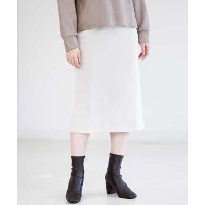 MK MICHEL KLEIN / エムケーミッシェルクラン 【洗える】コットン裏毛タイトスカート