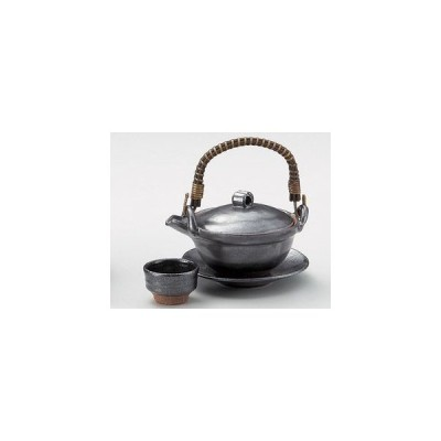 土瓶蒸しの器 鉄結晶京型(手造り)・日本製土瓶むし(直火可)