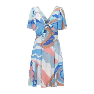 エミリオ・プッチ EMILIO PUCCI ミニワンピース&ドレス アジュールブルー 40 シルク 100% ミニワンピース&ドレス