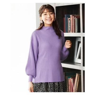 セーター ニット 大きいサイズ レディース 袖ボリューム 冬 L/LL/3L ニッセン nissen