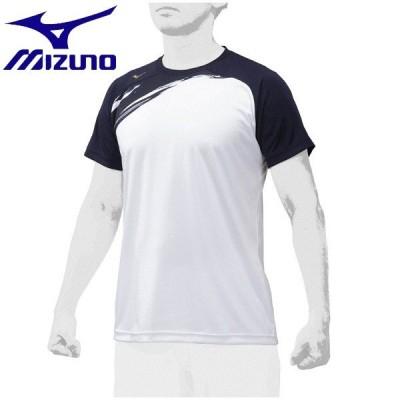 ◆◆送料無料 メール便発送 <ミズノ> MIZUNO 【ミズノプロ】グラフィックTシャツ(ユニセックス) 12JA0T04 (14:ネイビー) 野球・ソフトボール