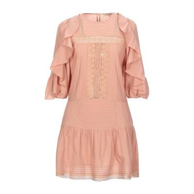 VANESSA BRUNO ミニワンピース&ドレス ローズピンク 38 コットン 100% ミニワンピース&ドレス