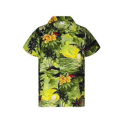 King Kameha Funky Hawaiian Shirt, Shortsleeve, Surf, DarkGreen, S