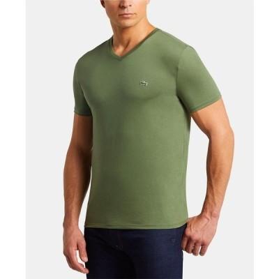 ラコステ Tシャツ トップス メンズ Men's V-Neck T-shirt Aucuba