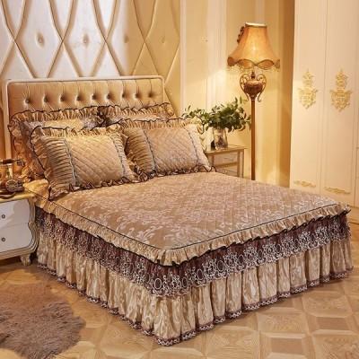 ベッドセット 枕 ベッドカバー スカート シーツセット フリースキルト 120×200 150×200 3pac