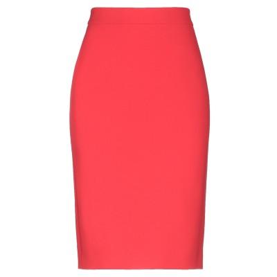 BOUTIQUE MOSCHINO ひざ丈スカート レッド 42 トリアセテート 70% / ポリエステル 30% ひざ丈スカート