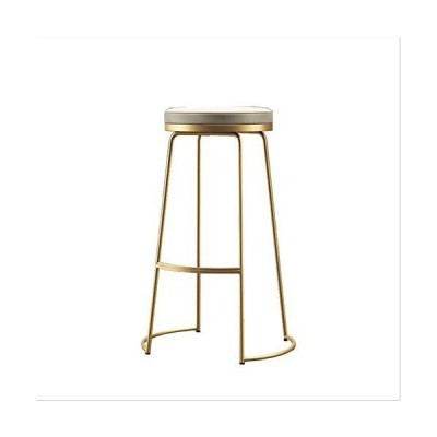 RSBCSHI Bar Stool 52×45/65/75cm, Simple Iron High Stool, Suitable for Home Restaurants and Bars (Color : Gold, Size : 45cm)