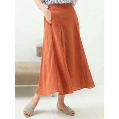 綿麻シアーマチ付きスカート